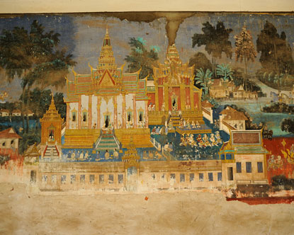 royal palace phnom penh art royal palace frescoes. Black Bedroom Furniture Sets. Home Design Ideas