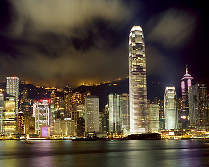 hong kong? thriving asian metropolis.