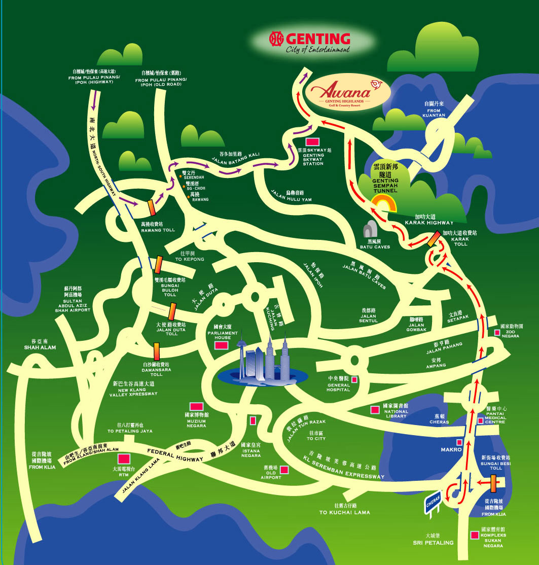 Map of Genting Highlands