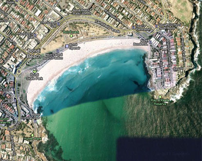 Bondi Beach Map