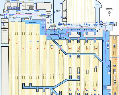 Sydney Central Station Map Central Station Map   Layout of Central Station Sydney Central Station Map