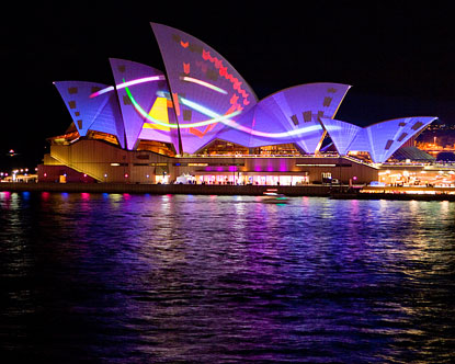 Vivid Sydney 2018 Light Show At The Sydney Opera House