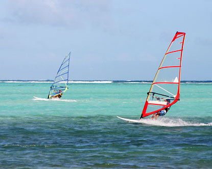 Windsurfing in Bonaire