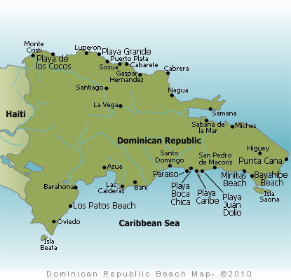 Dominican Republic Beaches Map