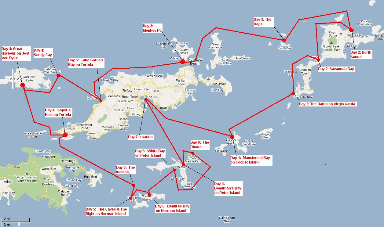 Caribbean Sailing Routes