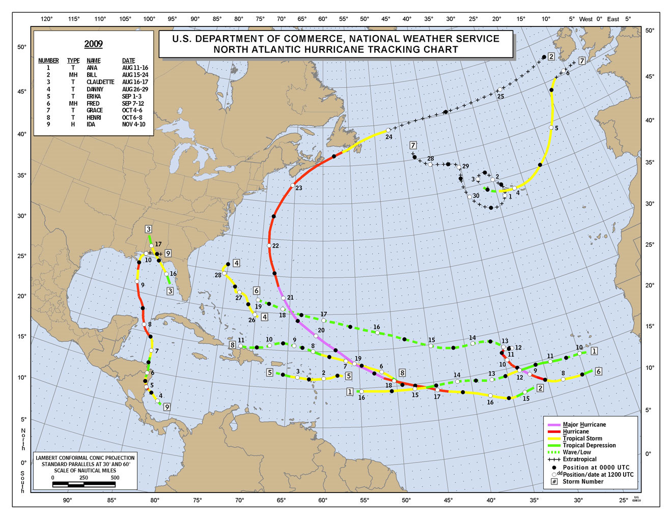 Map Of Caribbean Hurricane