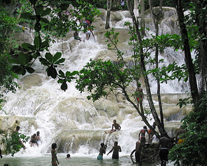Dunns River Falls Jamaica regularly tops lists of the world's most beautiful