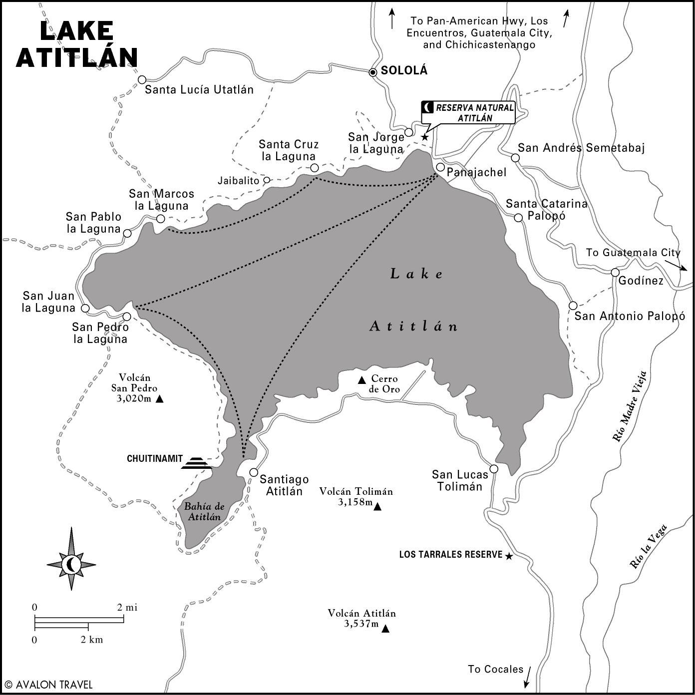 Lake Atitlan Map Lake Atitlan Map