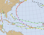 Caribbean Hurricane Map