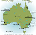 Australia Beaches Map