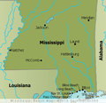 Mississippi Beaches Map