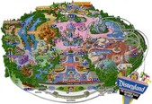 Map of Disneyland
