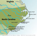 North Carolina Beaches Map