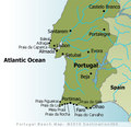 Portugal Beaches Map