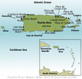 Puerto Rico Beaches Map