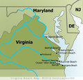 Virginia Beaches Map