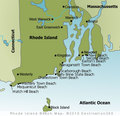 Rhode Island Beaches Map