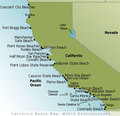 California Beaches Map