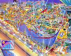 Pleasure Beach Theme Park Map