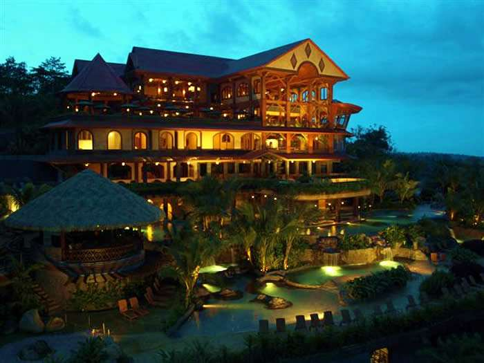 "<p style=""text-align:left;margin-left:20px;margin-right:20px;""><strong>Address:</strong> Arenal, Costa Rica<br /><strong>Price Range:</strong> $$$$<br /><strong>Hotel Style:</strong> Luxury Hotel, Romantic Hotel, Spa Hotel<br /><br />Upon arrival at the Springs Resort & Spa, guests soon realize that they're in for a special experience. The main lodge stands majestically in the shadow of the famed Arenal Volcano, and all of the accommodations offer volcano views. Whether guests book a room or a free-standing bungalow or villa, they will be treated to an impressive array of amenities, the likes of which include such delights as a flat screen TV with satellite programming and a marbled bathroom with a jetted tub. A full-service spa, a dazzling collection of swimming pools, four restaurants, and natural springs figure among the numerous facilities.</p>"
