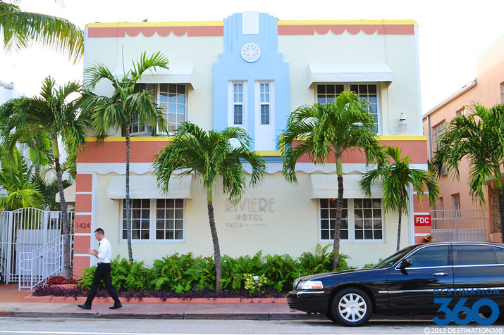 "<p style=""text-align:left;margin-left:20px;margin-right:20px;""><strong>Address:</strong> 1424 Collins Ave., Miami Beach, FL 33139<br /><strong>Price Range:</strong> $$$<br /><strong>Hotel Style:</strong> Beach Hotel, Boutique Hotel<br /><br />The cozy and historic Riviere Hotel can be found in South Beach's glitzy Art Deco district and is just steps from white sandy beaches. When guests aren't kicking back at the beach or enjoying all the other great area attractions, they can relax in the hotel's outdoor garden area or make use of the welcoming amenities that are found in the tasteful and tidy rooms. Deluxe Suites with kitchenettes are available, and all rooms feature flat screen TVs with 60 channels.</p>"