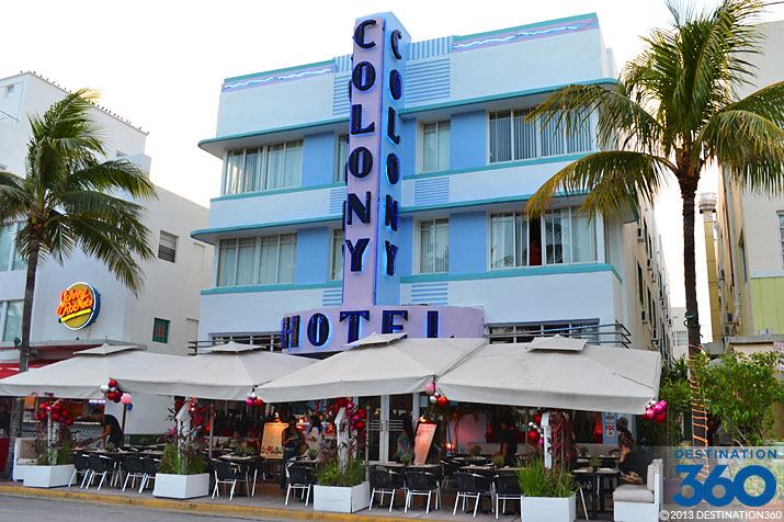 "<p style=""text-align:left;margin-left:20px;margin-right:20px;""><strong>Address:</strong> 736 Ocean Dr., Miami Beach, FL 33139<br /><strong>Price Range:</strong> $$$<br /><strong>Hotel Style:</strong> Beach Hotel, Luxury Hotel<br /><br />An Art Deco treasure, the Colony Hotel has been around since 1935 and is a South Beach icon. Renovations have served to keep the hotel contemporary, and as always, the beach is right across the street. When Colony Hotel guests aren't relaxing on white sand beaches, they can dine on the hotel's restaurant terrace or grab some drinks at the lobby bar. Rooms are tasteful and well-equipped.</p>"