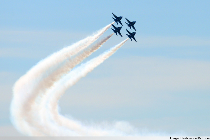 Four Blue Angels at Seafair 2014