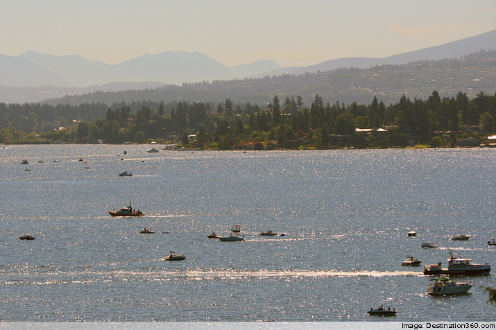 Boats on Lake Washington 2014 Seafair