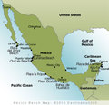Mexico Beaches Map
