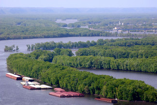 Mississippi River in Wisconsin