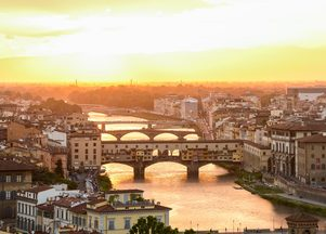Arno River in Italy