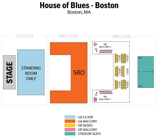 House of Blues Boston Seating Chart
