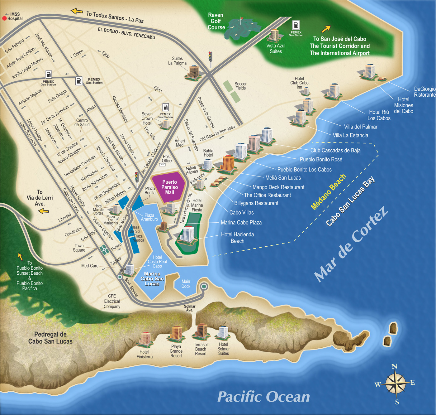 Cabo San Lucas Marina Cabo San Lucas Hotel Map Locations on disney world hotel map locations, jamaica hotel map locations, london hotel map locations, key west hotel map locations, punta cana hotel map locations, las vegas hotel map locations, isla mujeres hotel map locations, grand cayman hotel map locations, mayan riviera hotel map locations,