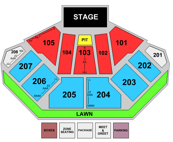 First Midwest Bank Amphitheatre Seating Chart