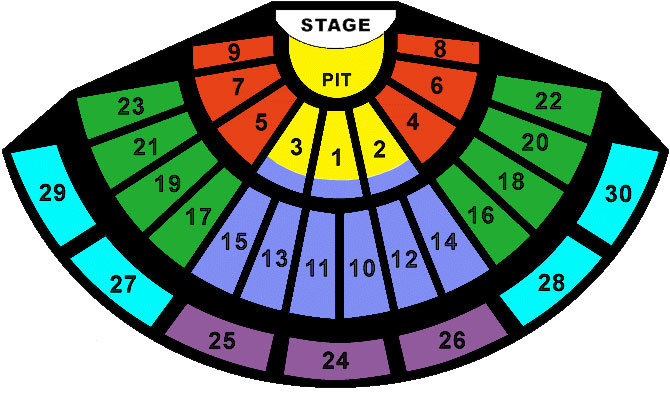 Gibson Amphitheatre Seating Chart