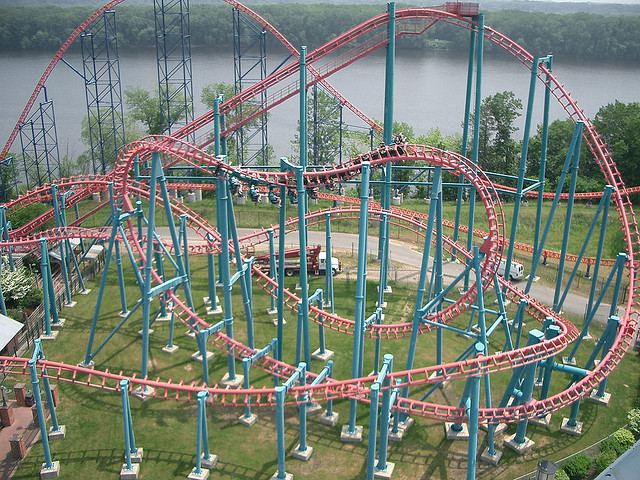 Six Flags New England Rides