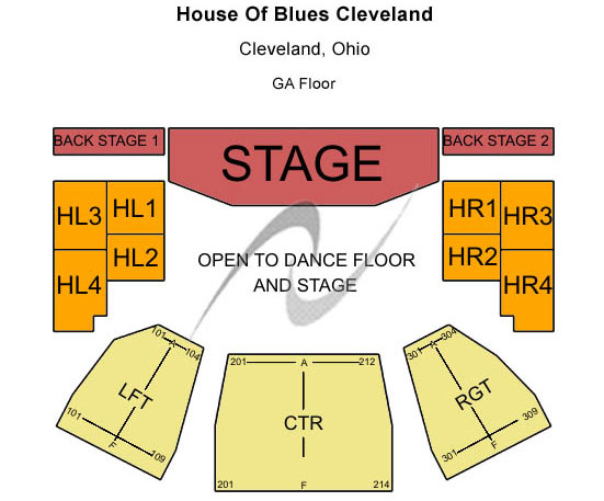 House of Blues Cleveland Seating Chart