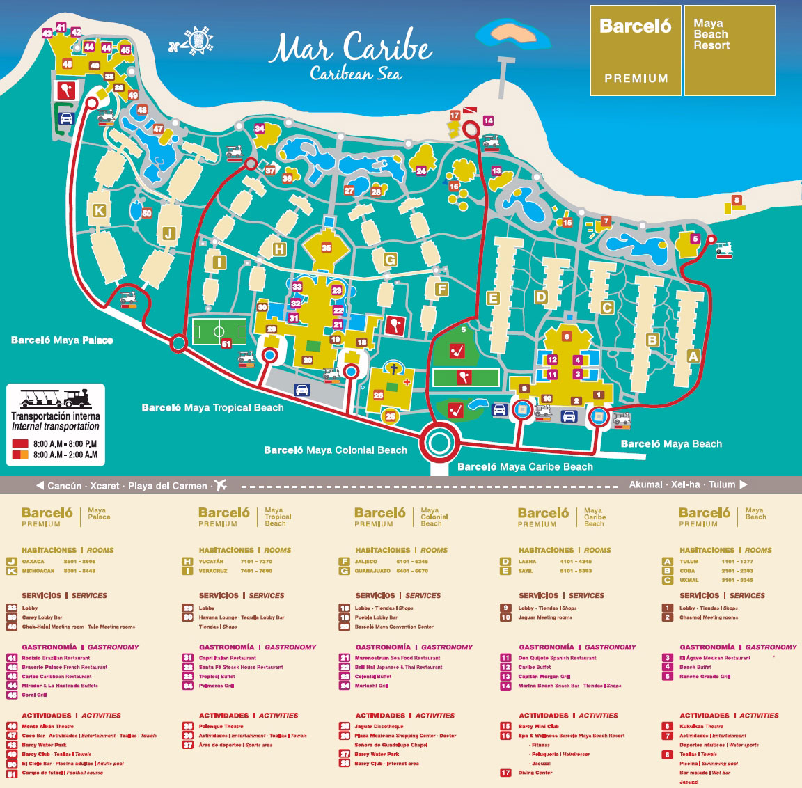 Barcelo Palace Map