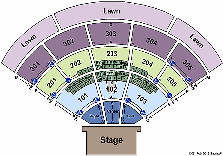 Sleep Train Amphitheatre Seating Chart