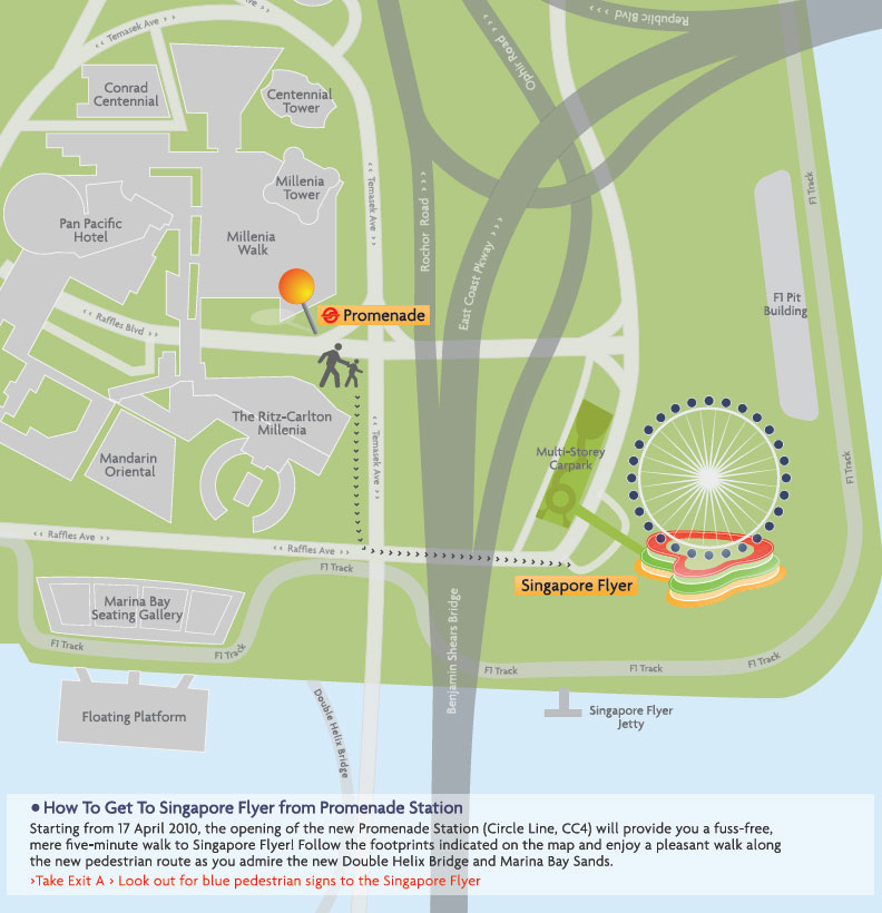 Singapore Flyer Map