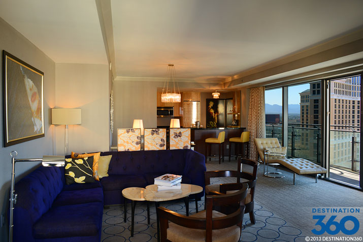 Cosmopolitan terrace suite living room for Terrace suite cosmopolitan