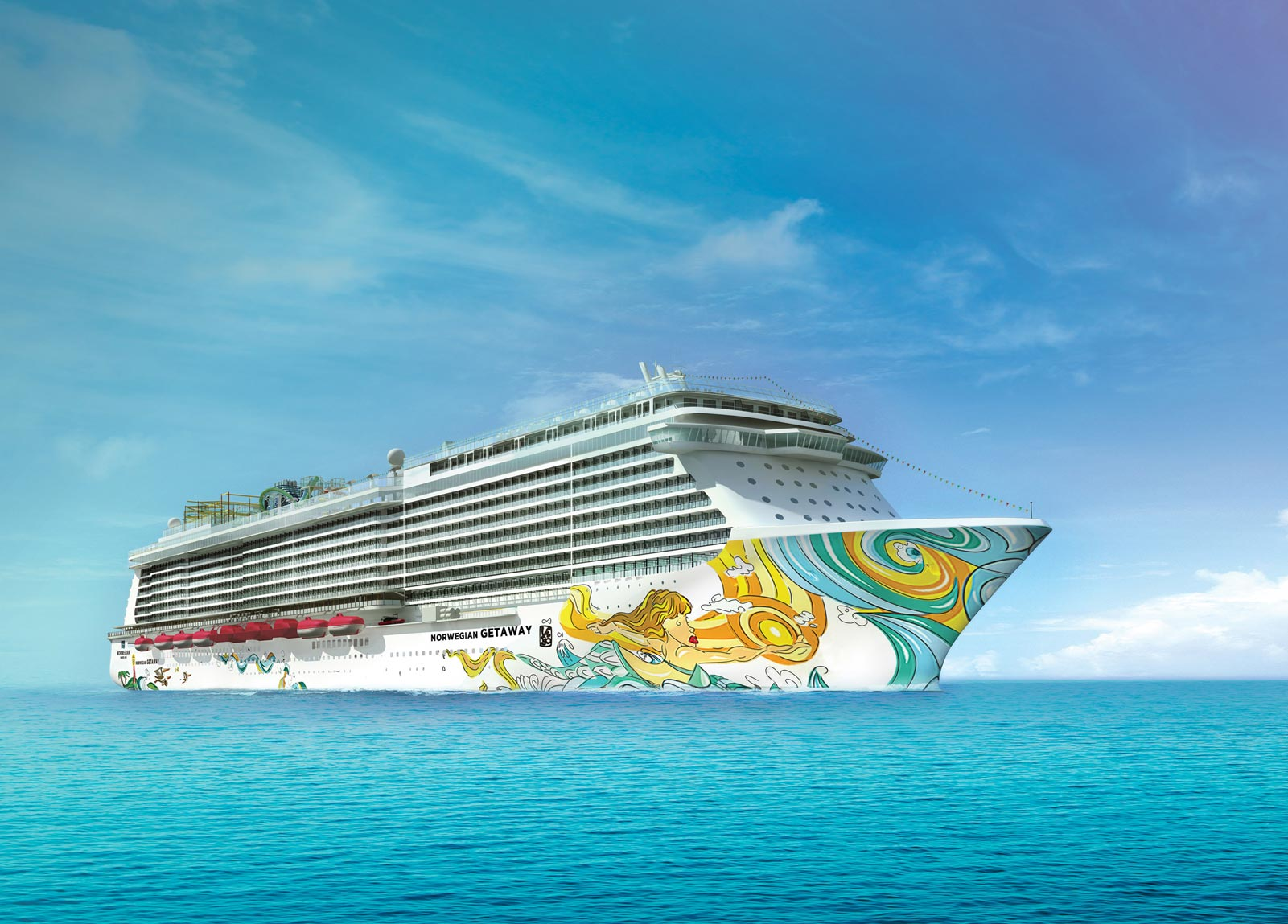Norwegian cruise line ships norwegian getaway for Best cruise lines in the world
