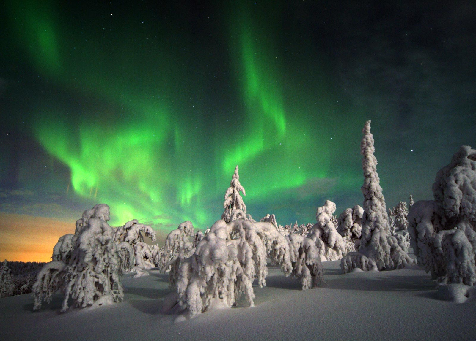 Aurora Borealis on Finland Northern Lights