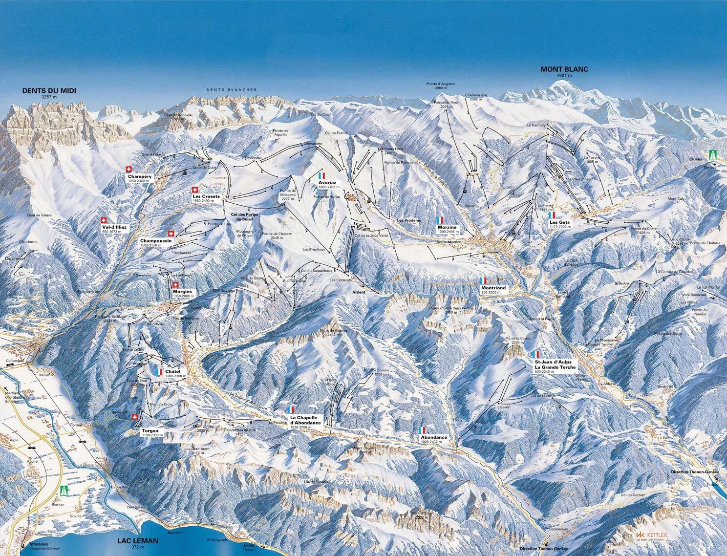 Map Of French Alps French Alps Map Map Of French Alps
