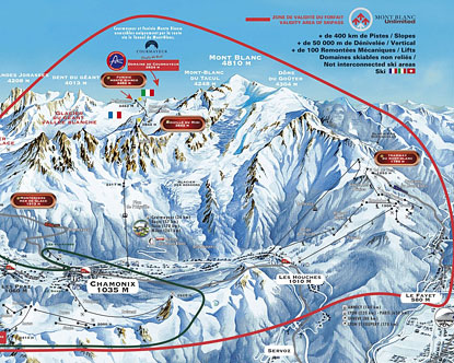 Mont Blanc Map
