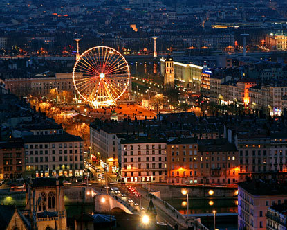 Place Bellecour Ferris Wheel At Place Bellecour Place