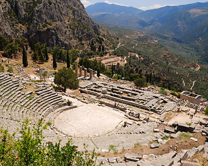 Delphi Greece - Ancient Delphi - Oracle of Delphi