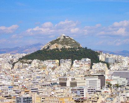 Lykavittos Hill Athens Hill Lykavittos