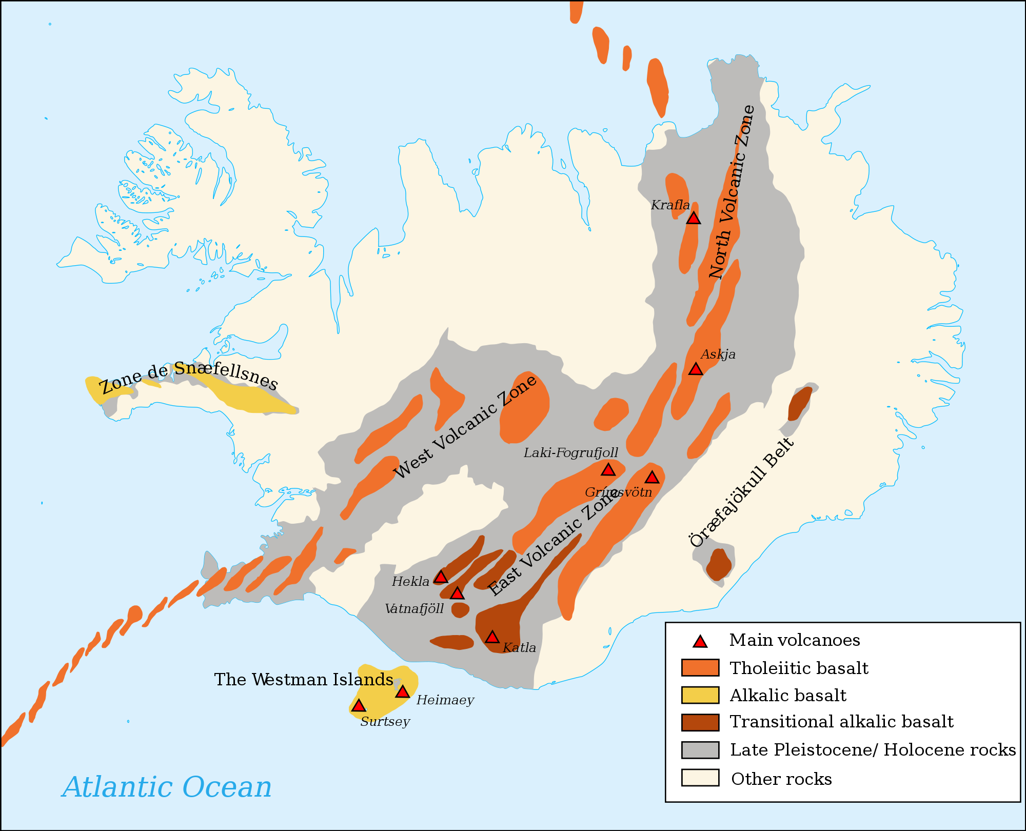 Map of iceland volcanoes publicscrutiny Gallery