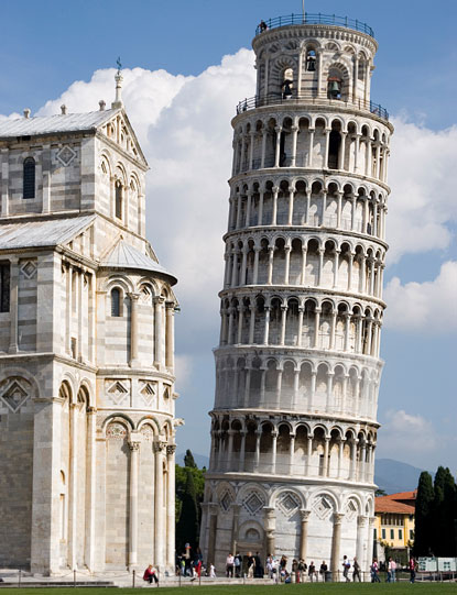 The leading tower of Pisa